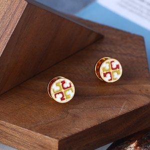 Tory Burch Multicolor Stitching Earrings